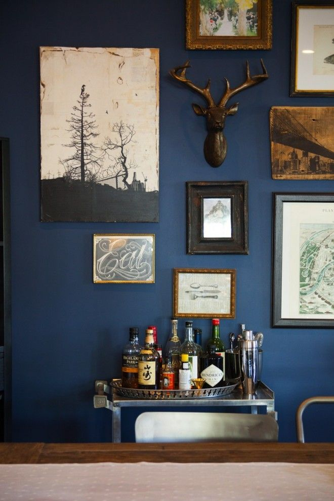 Industrial-Living-Room-love-this-blue-and-shes-got-an-awesome-wood-plank-accent-wall-in-this-room-too